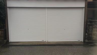車庫のシャッター交換!1台入り・2台入りも交換可能。