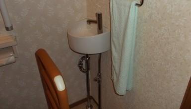 トイレ手洗い水栓取付工事