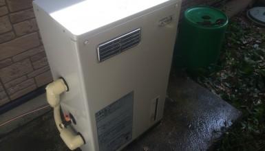コロナ製、温水床暖房ボイラーのスピード交換工事