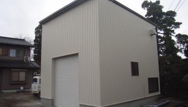 2×4オリジナル農機具倉庫新築工事