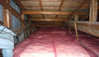 屋根裏断熱で室内を少しでも暖かく