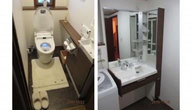 高級感あふれるトイレ・洗面所改装