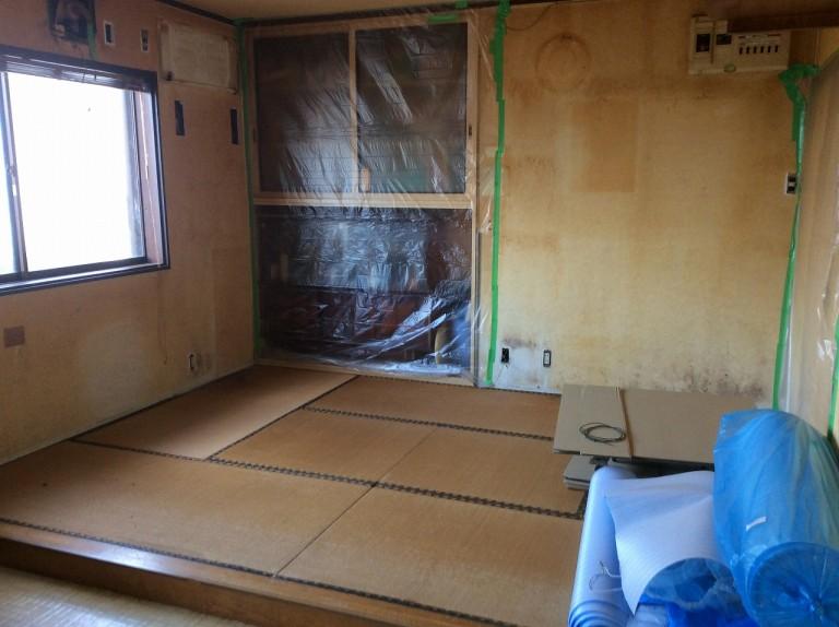 白蟻駆除とそれに伴う改装工事