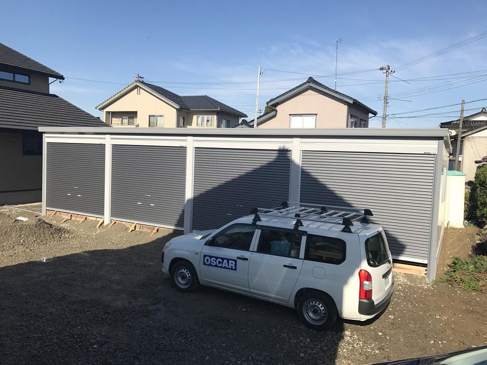 【富山県砺波市】ガレージ車庫|4台入り設置