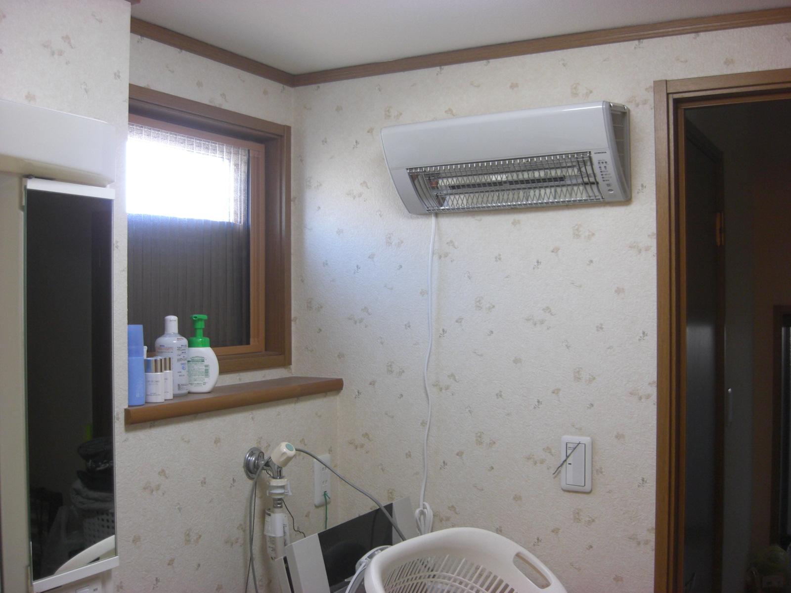 ヒートショック対策に最適!洗面脱衣室暖房機