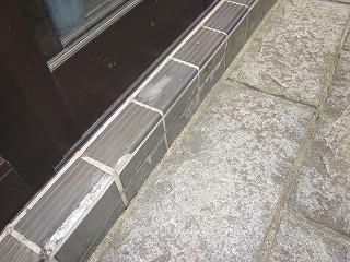 玄関タイル補修工事