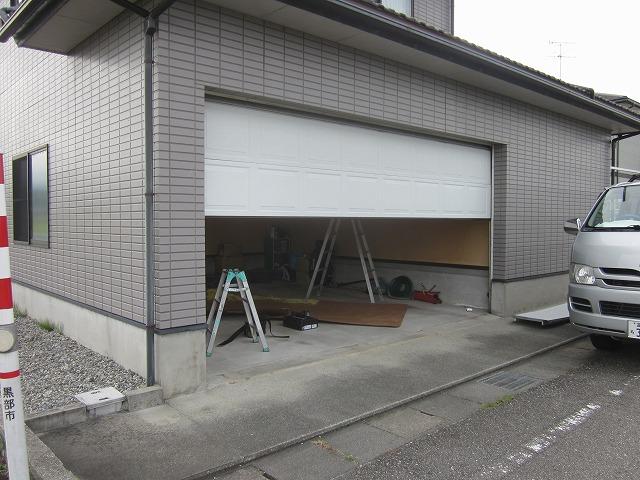 ガレージドアパネル修理