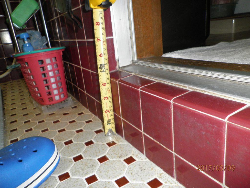 安心・安全な浴室になりました!入口はバリアフリー対応の片引き戸