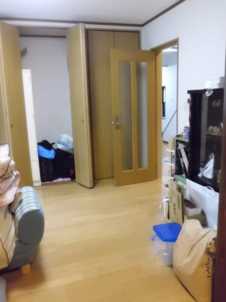 二つの部屋が一つの明るいLDK空間に :LDK改装工事