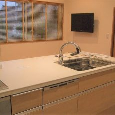【完成】キッチンがリビングになる♪LIXILリシェルSiセラミックカウンターの画像