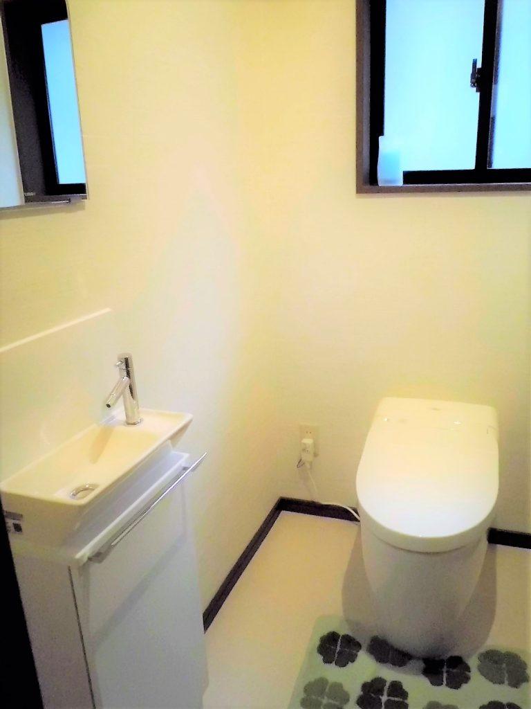 タンクレストイレでスッキリとした空間に
