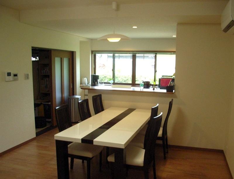 来客時も安心対面式I型キッチンに改装