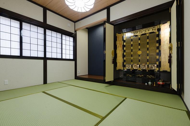 落ち着きのある純和風な和室