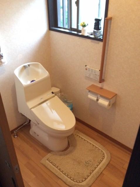 キレイでお手入れ簡単洋式トイレに改装