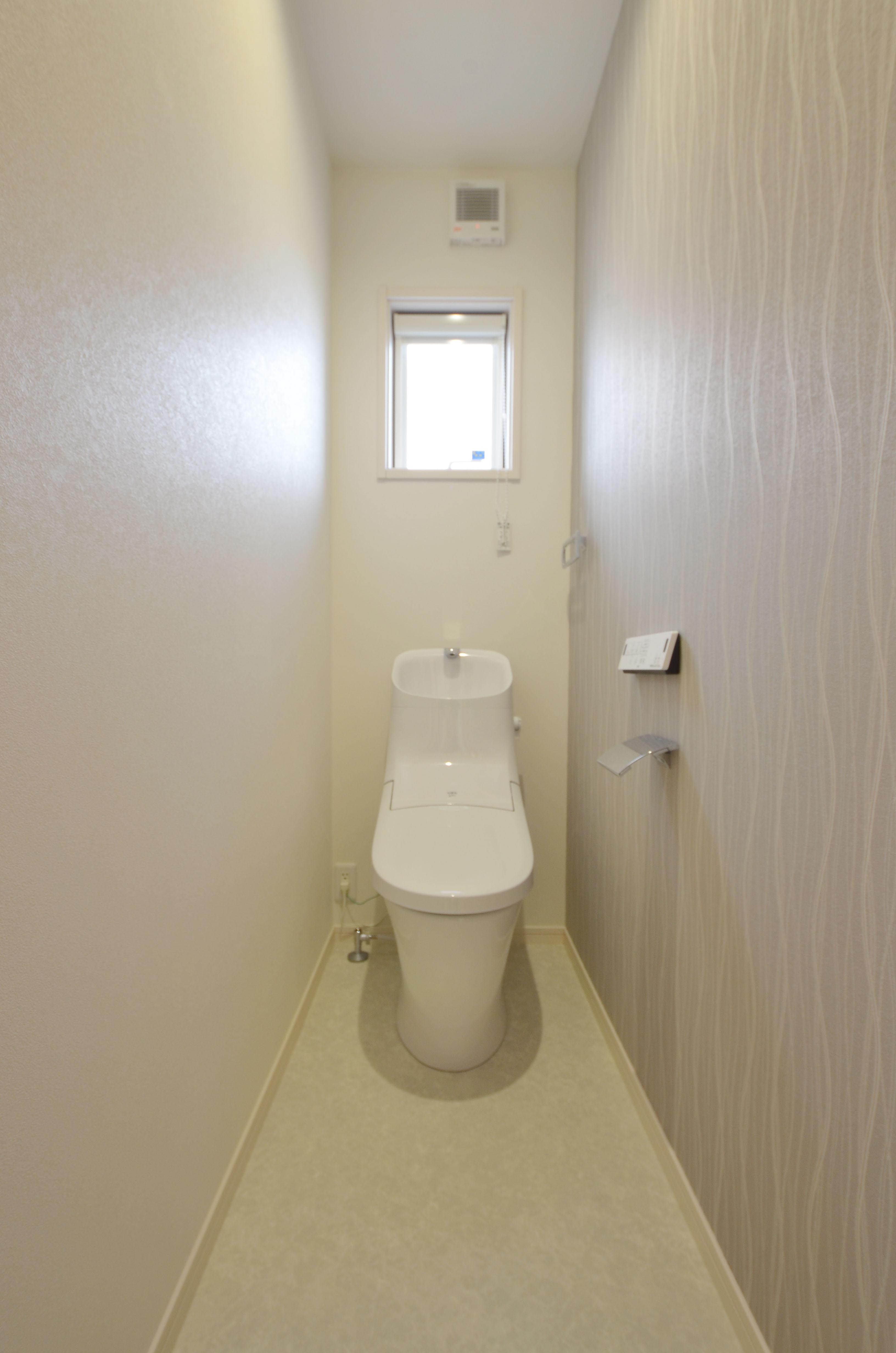 明るく清潔感のあるトイレに改装