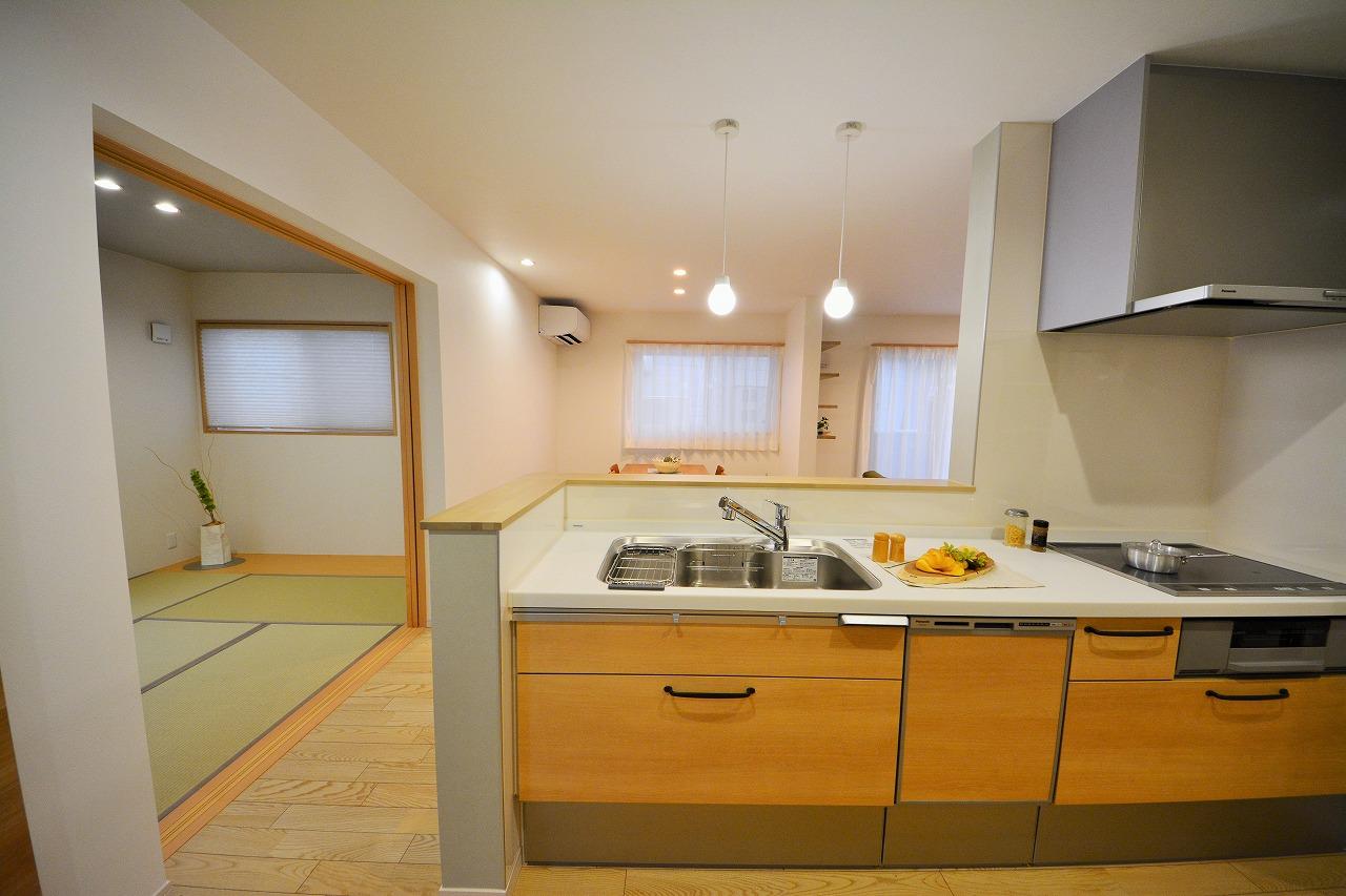 使い勝手のいいI型キッチンのあるダイニングキッチンに改装