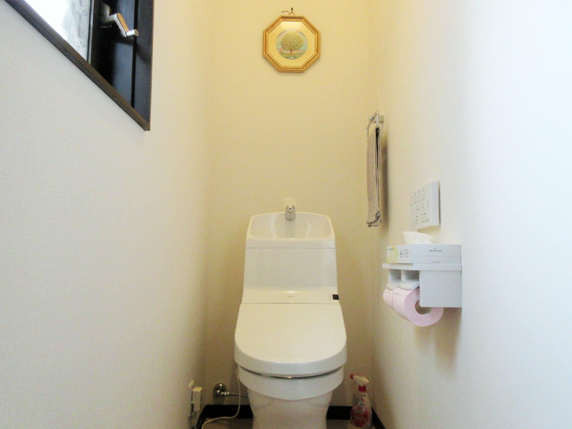 新しいトイレでおしりもあったか快適!