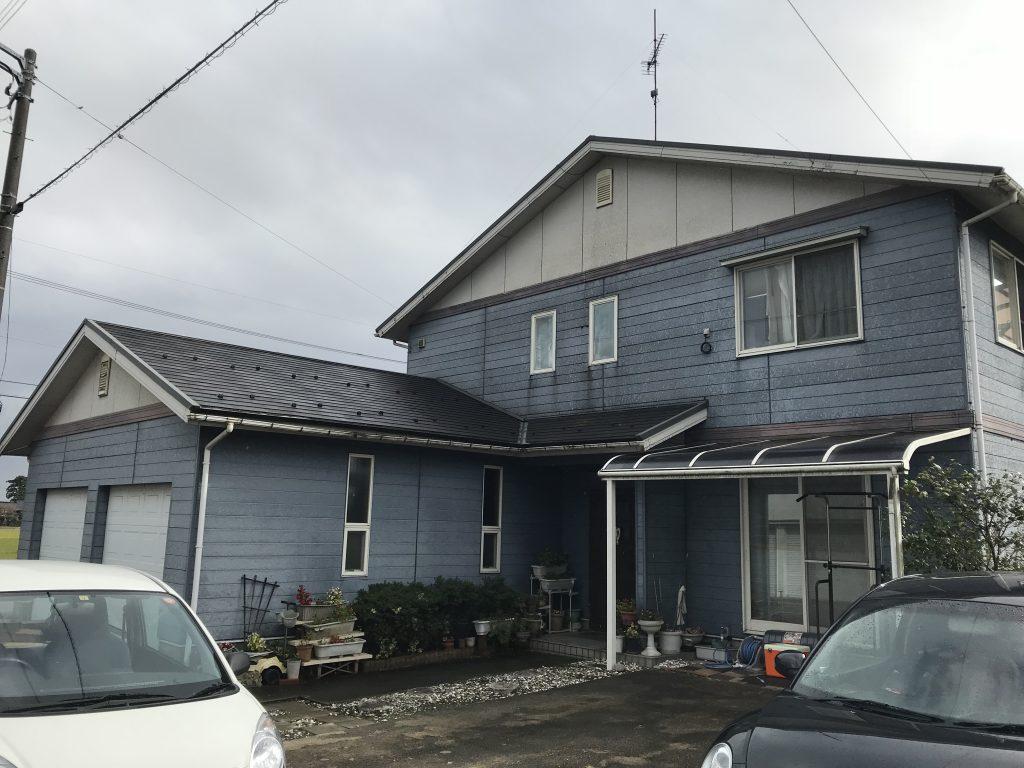 築20年の外装工事 外壁板金貼り・金属屋根重ね張り工事