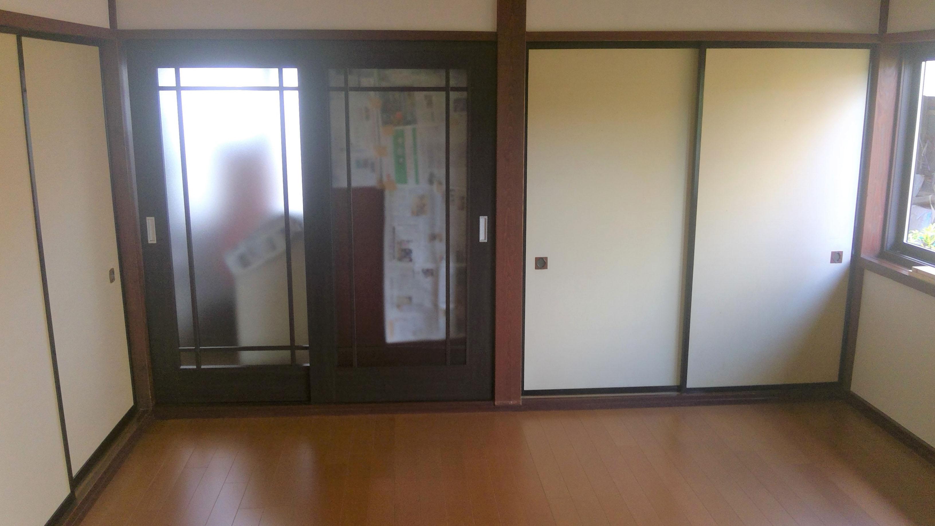 和室から洋室へ改装でお掃除も楽になりました。