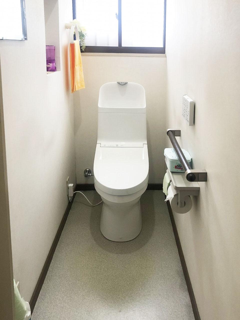 掃除のしにくいトイレとさようなら。トイレ入替え工事