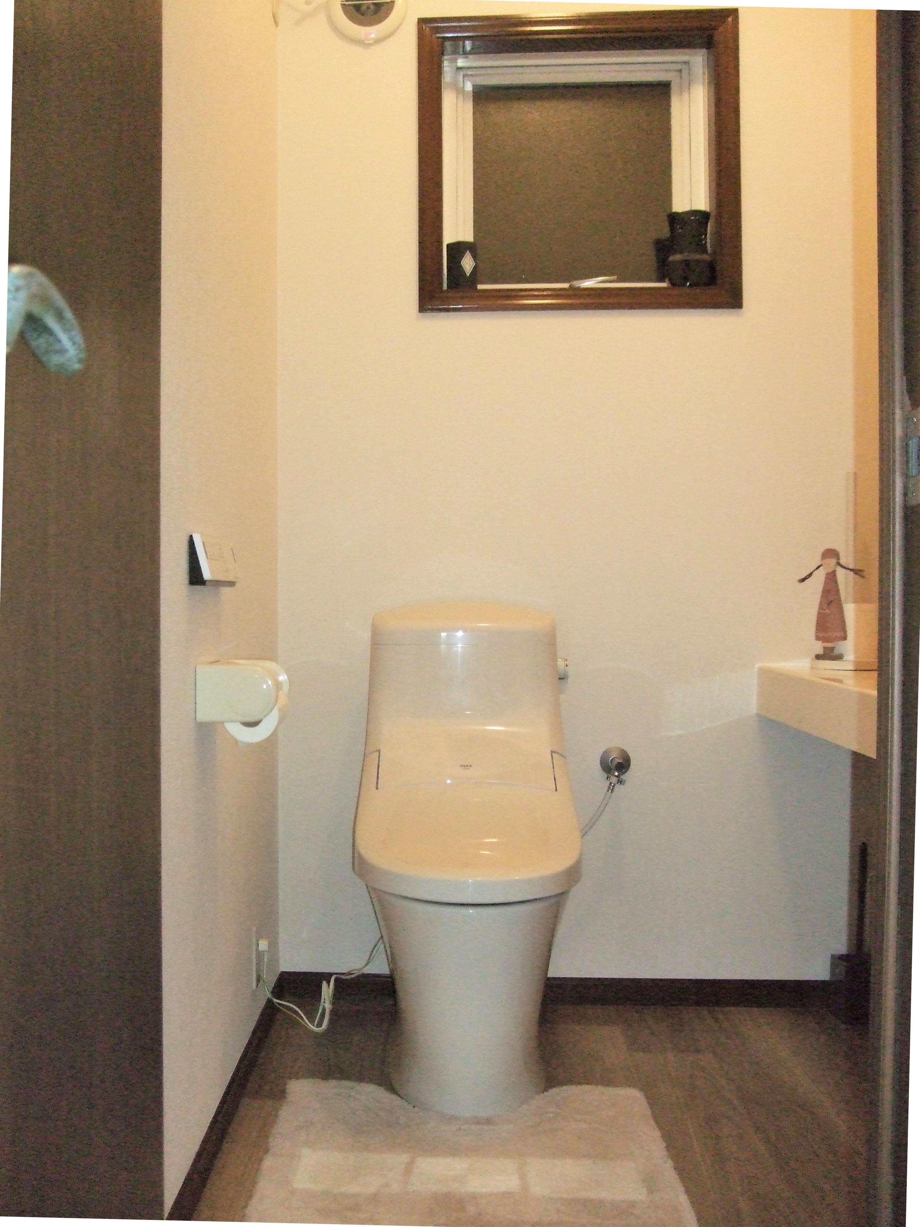 トイレ改装でトイレ掃除も楽になりました。