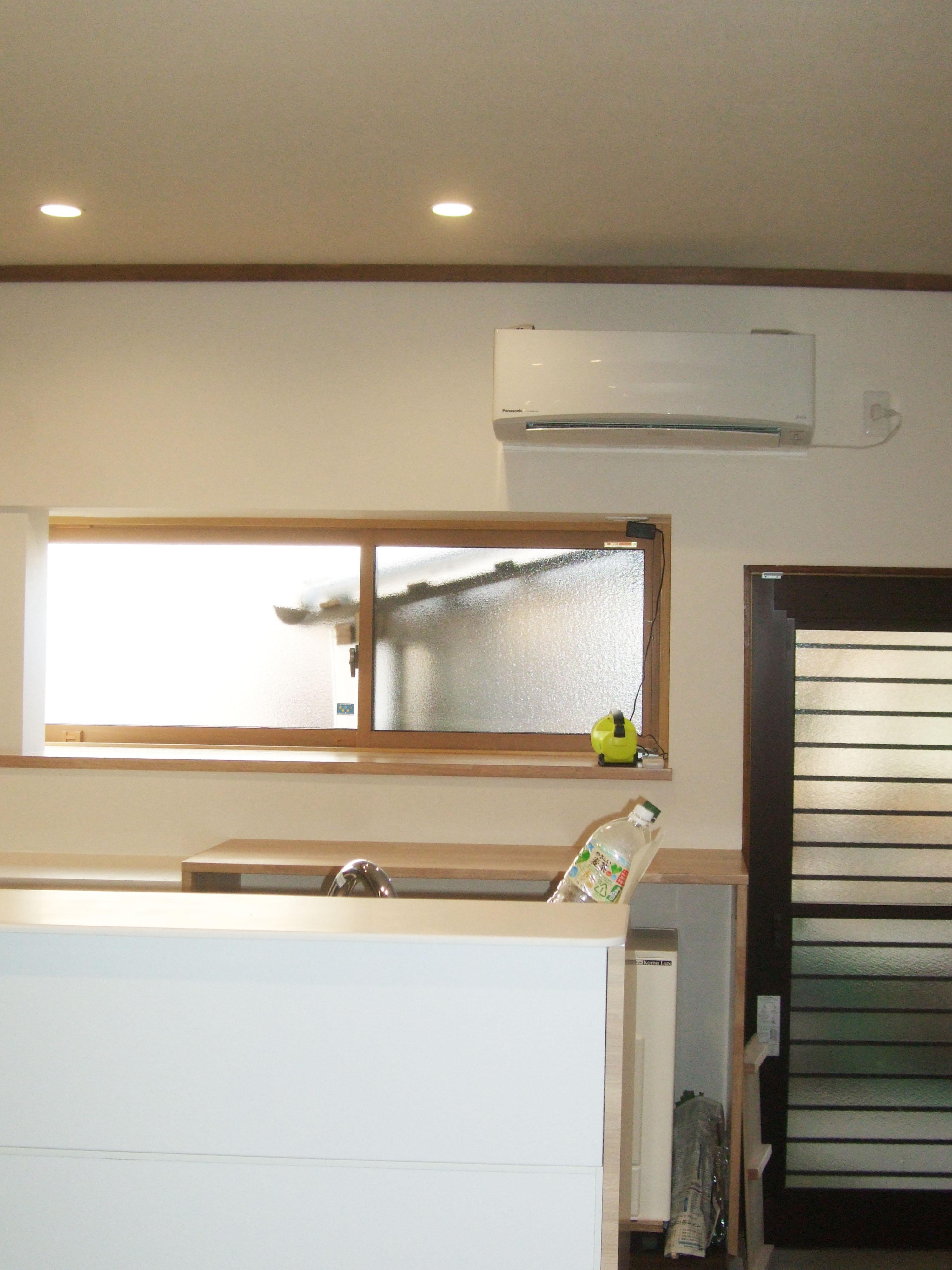 キッチン改装工事 目隠しにもなる対面キッチンへ