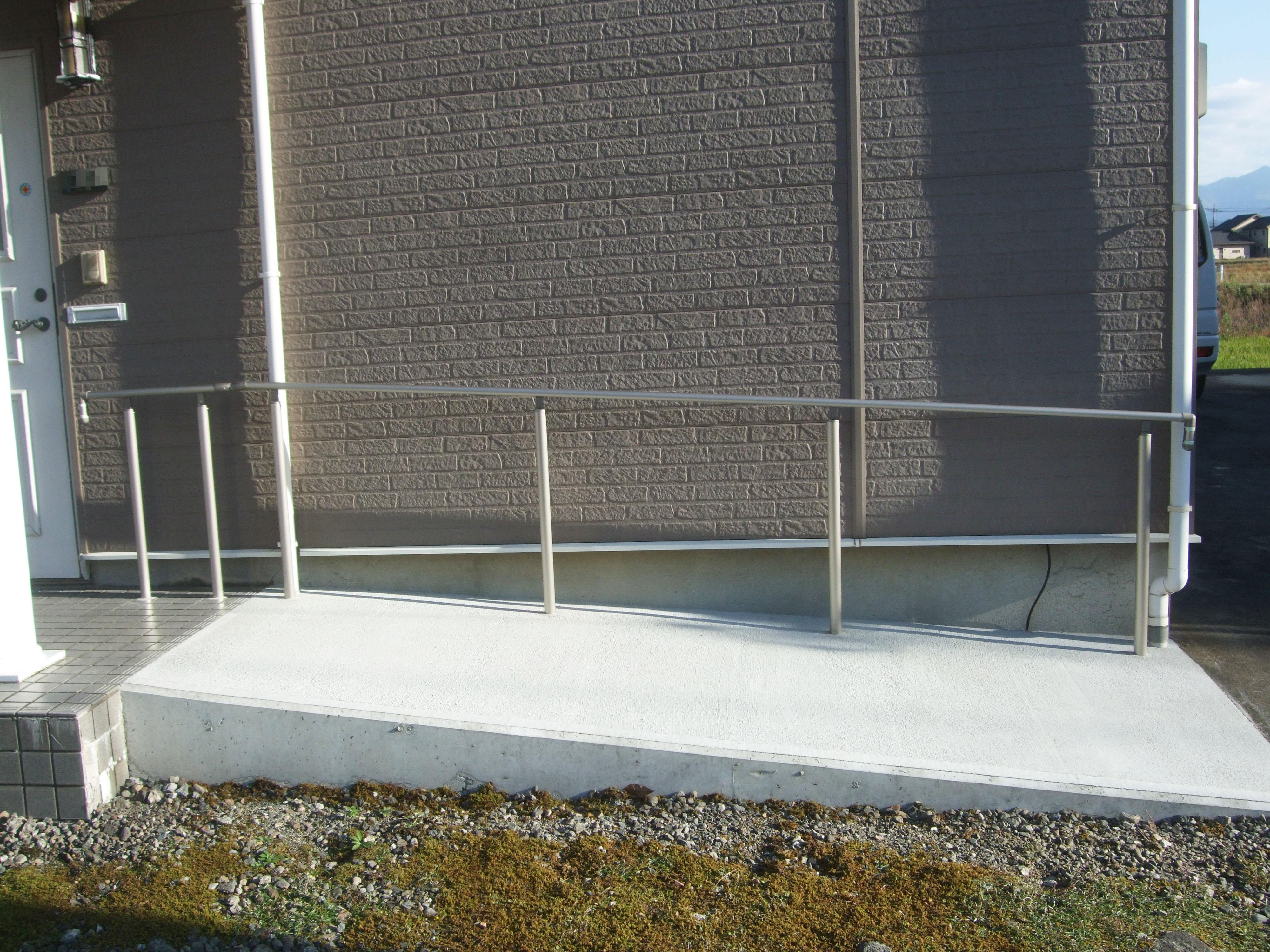 バリアフリー 玄関スロープ設置