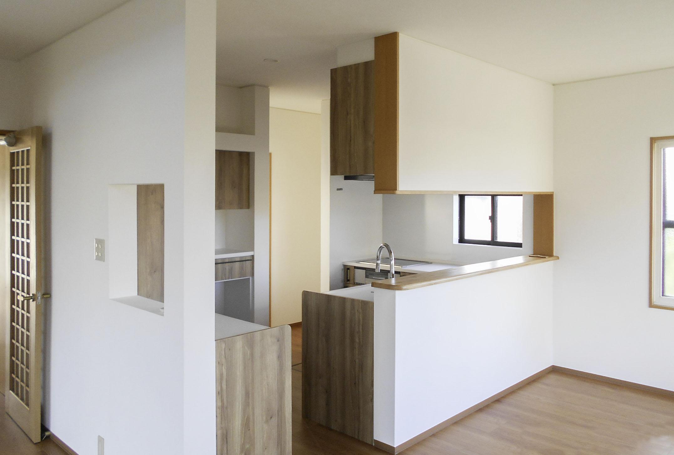 キッチン改装工事収納もたっぷり