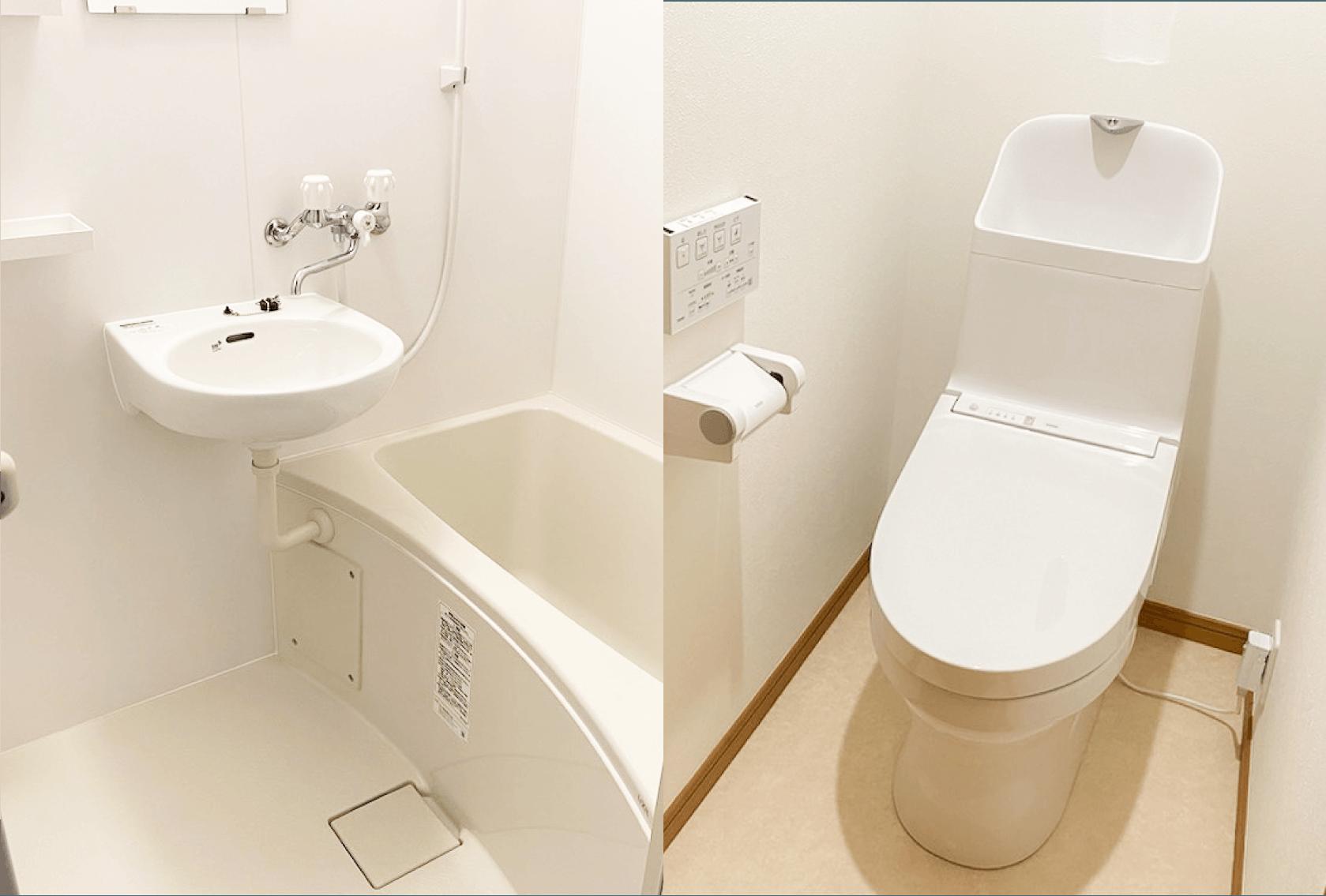 お風呂とトイレを別々の空間に改装
