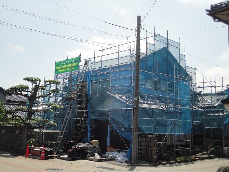 2世帯住宅リフォーム:2階全改装・1階居室改装・脱衣室UB改装・外壁・瓦工事の画像